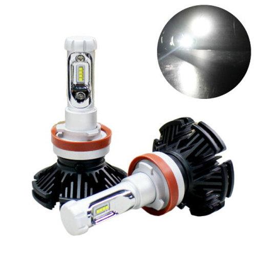 ★フィルム付色が変えられる★ LEDヘッドライト シングルバルブ ファンレスタイプ 9~32V対応 6000lm 3000~8000K