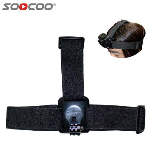 SOOCOO アクションカメラ用ヘッドストラップ アクションカメラを頭に取り付け! 登山、スノボー、ダイビングに! Go Proなど他社製品にも対応!