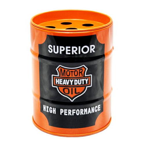 US風 缶灰皿 SUPERI0R ミニチュアのドラム缶型!
