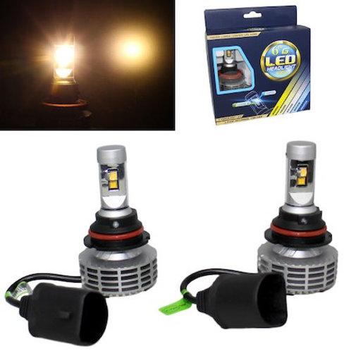 ★アメ車専用★ LEDヘッドライト HB5 ファンレス一体型 12v/24v 3000Lm