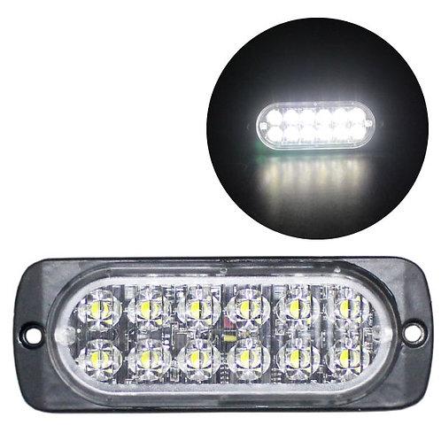 LEDストロボライト 超薄型タイプ 【ホワイト】 厚さわずか10mm! LED12個使用 点灯パターン16種類!