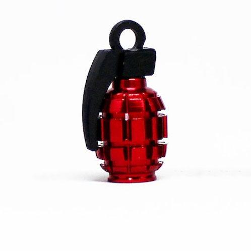 エアーバルブ 手榴弾 1個 レッド