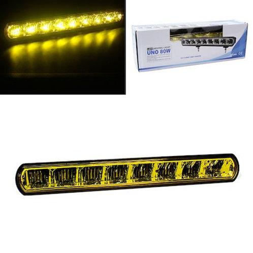 汎用 LEDライトバー イエローレンズ 8LED・80w UNO80W