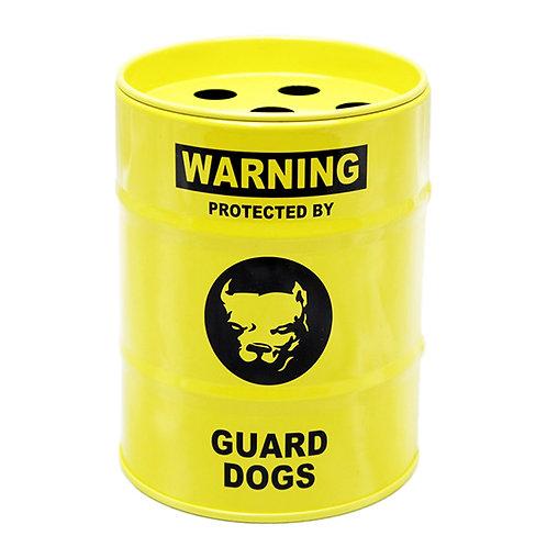 US風 缶灰皿 WARNING ミニチュアのドラム缶型!