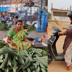 vegetable vendor Uma receiving 2 wheeler training