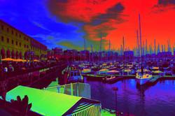 La noche en el puerto
