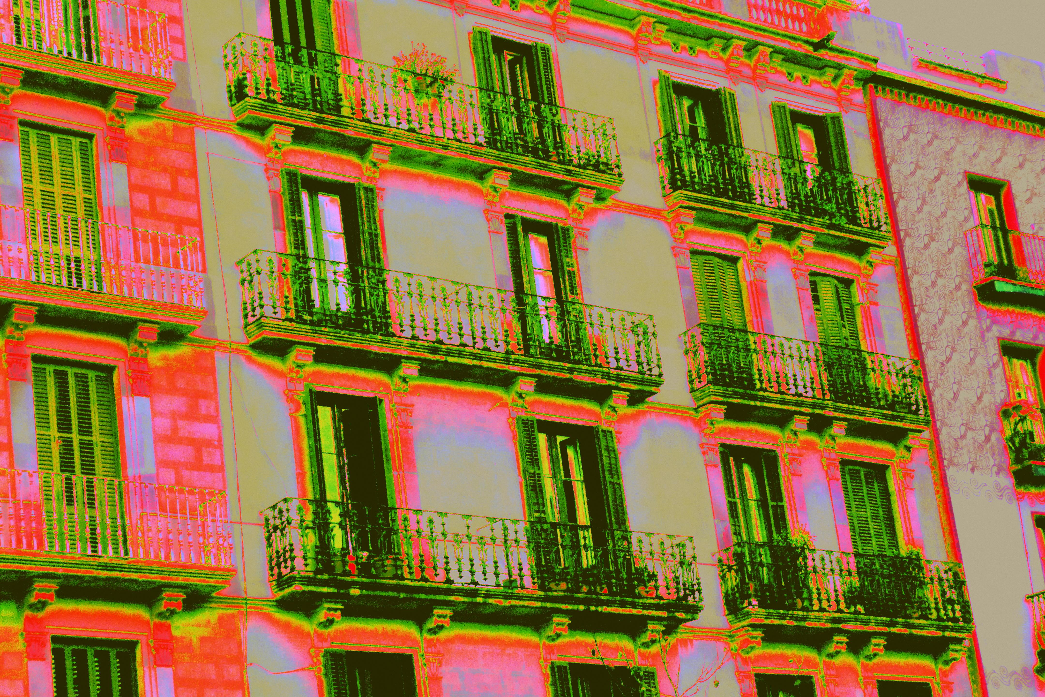 Los balcones verdes