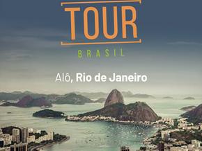 Chegando ao Rio de Janeiro para apresentar a nova versão do Up-Tracks