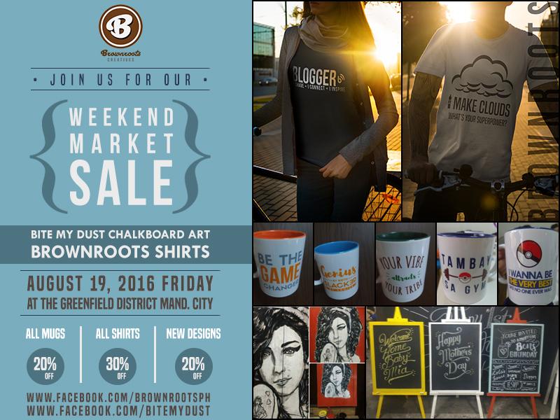 brownroots weekend market sale