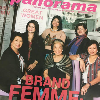 Front Cover for Manila Bulletin's  Sunday Panorama
