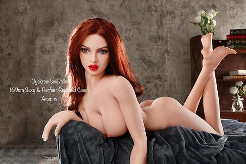Tall Sex Doll Redhead Big Tits Big Ass Pussy Oral Fuck Doll Sex