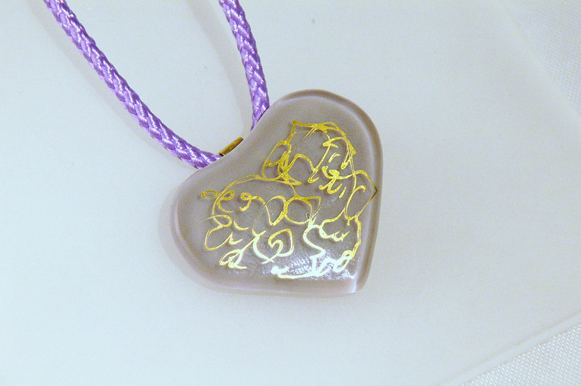 Fused Glass with 22k Gold Embellishment