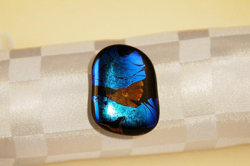Dichroic Handpainted Pin