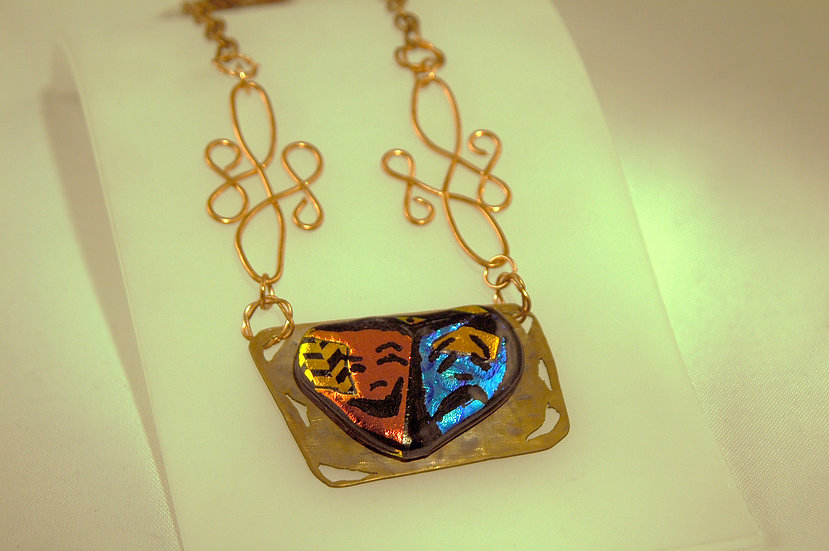 Copper Dichroic Glass Necklace