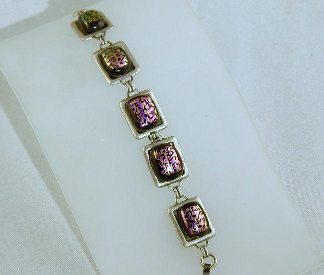 Silver Tone Dichroic Bracelet