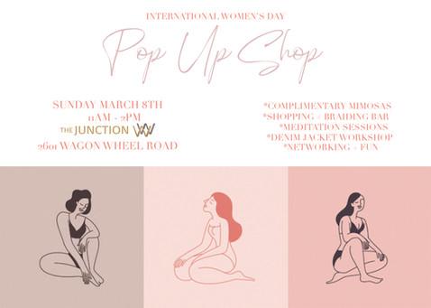 INTERNATIONAL WOMEN'S DAY POP-UP SHOP