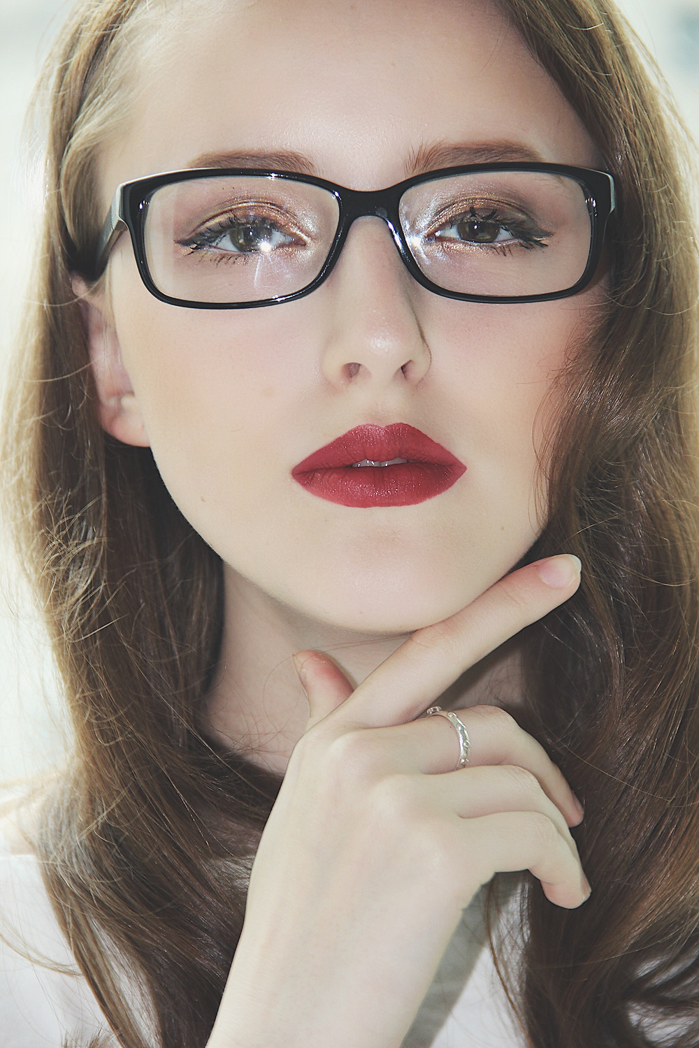 Gucci Glasses and Red Lip in Hong Kong