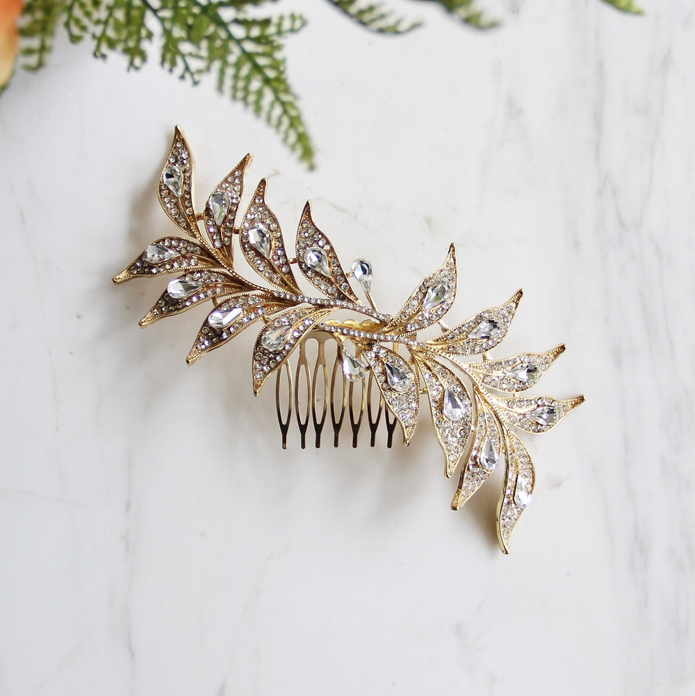 Gold Bridal Hair Comb
