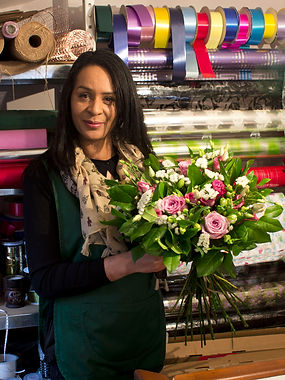"""Florists in Wellingborough & Northampton"" Florist Director, Ann King. Ann is an extremely inspiring, talented and creative floral designer and consultant.  Her creativity, expertise, talent, and attention to detail resonates throughout her work."