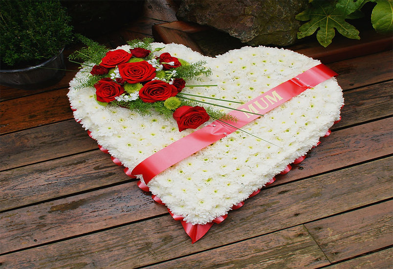 LARGE HEARTS FUNERAL TRIBUTE