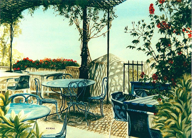 Cafe, Gremo, South France.