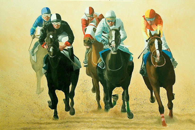 Gallop to the finish.