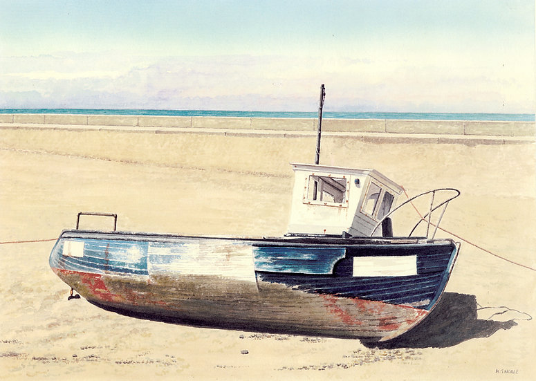 Beached boat, Barmouth, Wales.