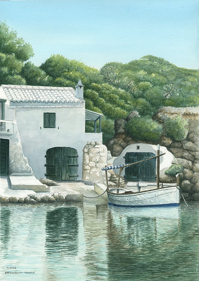 Moored Boat-Binisafuer-Menorca.