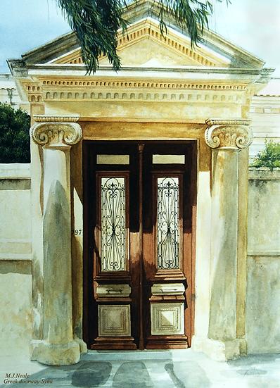 Doorway-Symi-Greece.