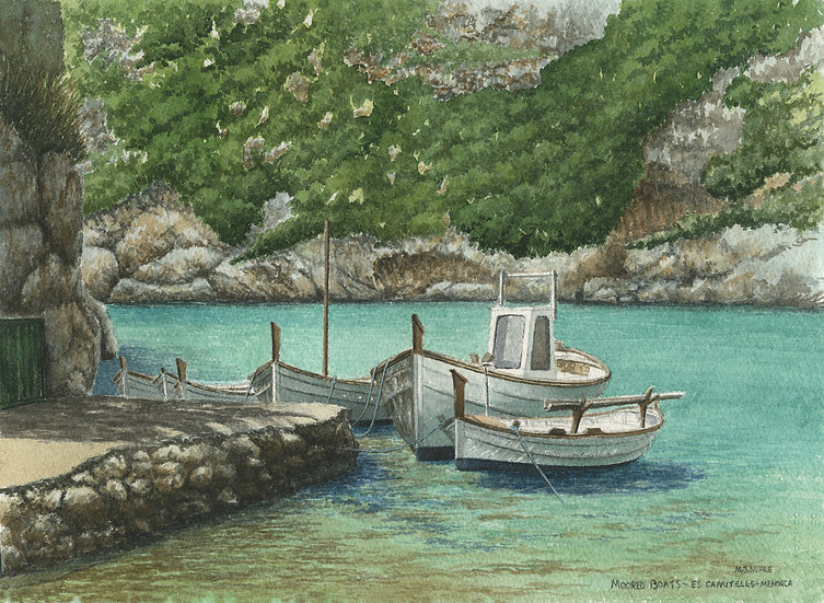 Menorcan fishing boats, Es Canutells, Menorca.