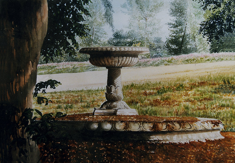 The old fountain, Stoke Edith, Herefordshire.