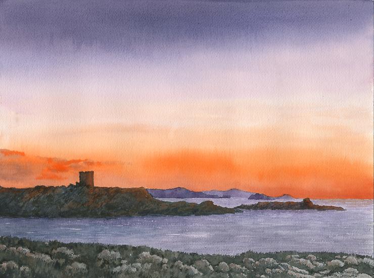 Sunset Cala Sanitja, Menorca.