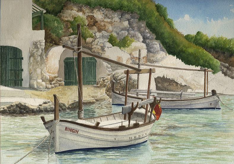 Menorcan fishing boats, Binnisafuller, Menorca.