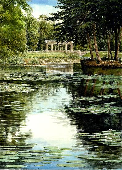 The Palladian Bridge-Stowe.