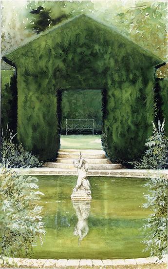 Pond-Hidcote Gardens.