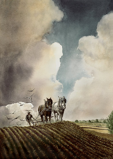Ploughing in the Clouds.