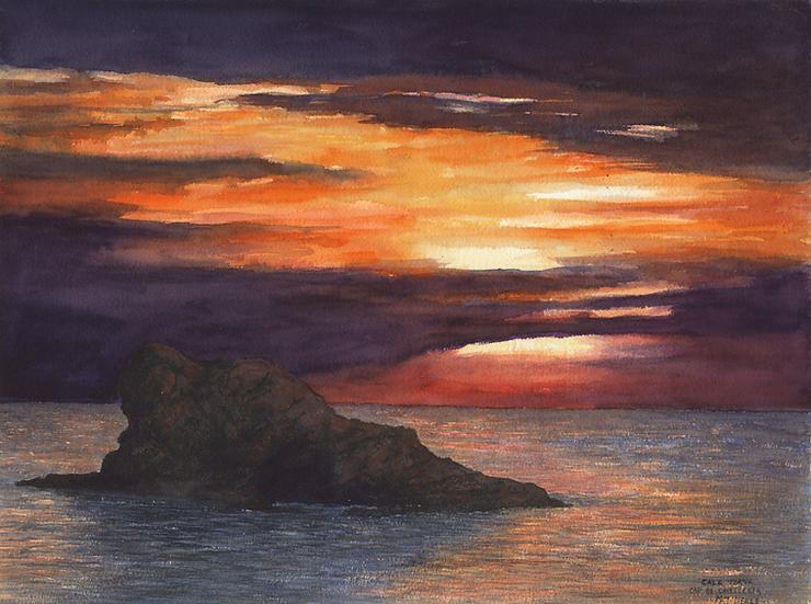 Sunset CalaTorta, Menorca.