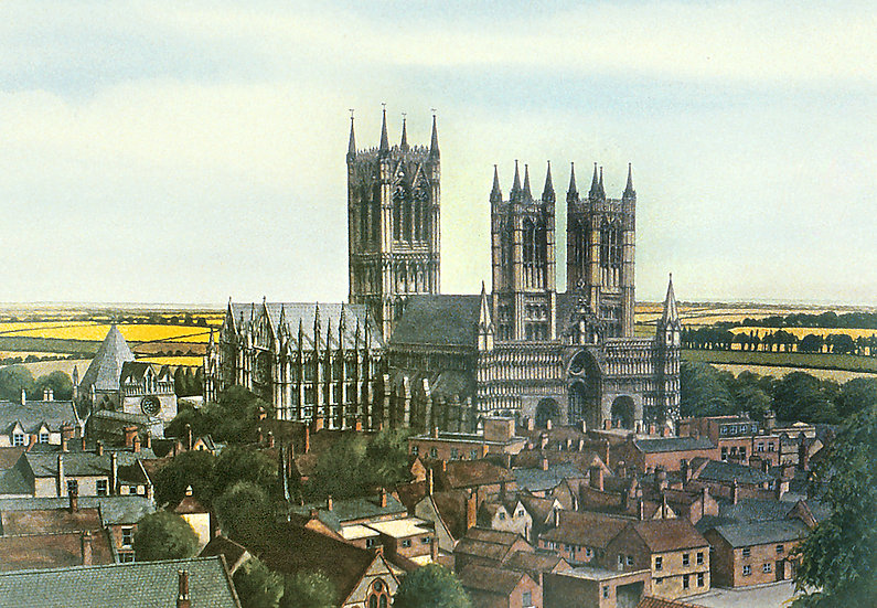 Lincoln Cathedral from the waterpower.