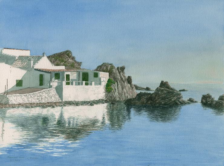 Fishermen's cottages, Mesquida, Menorca.