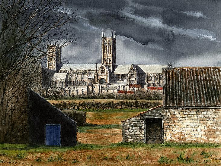 Lincoln Cathedral from Bracebridge Heath.