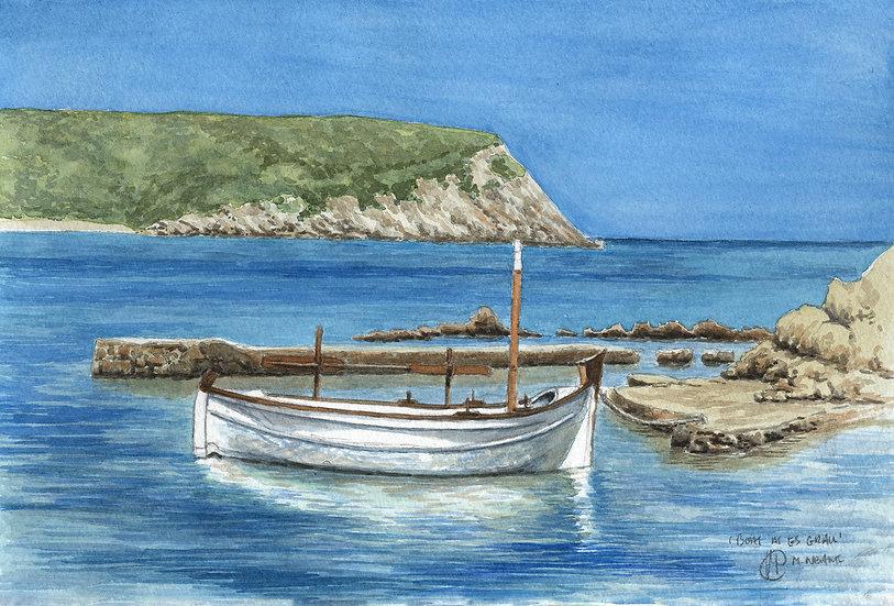 Menorcan fishing boat 2, Es Grau, Menorca.