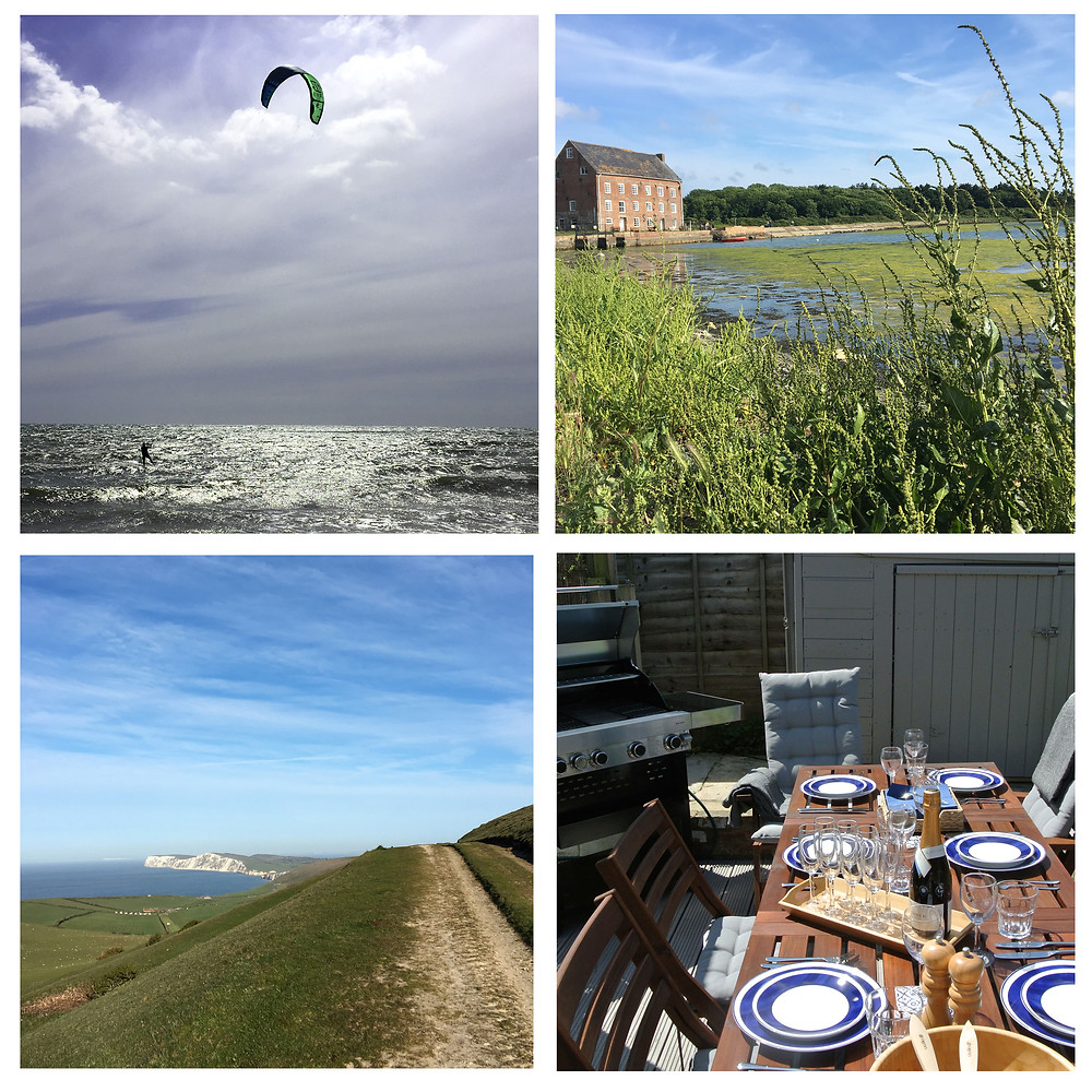 Firefly House bbq, kitesurfing and walking on the Isle of Wight