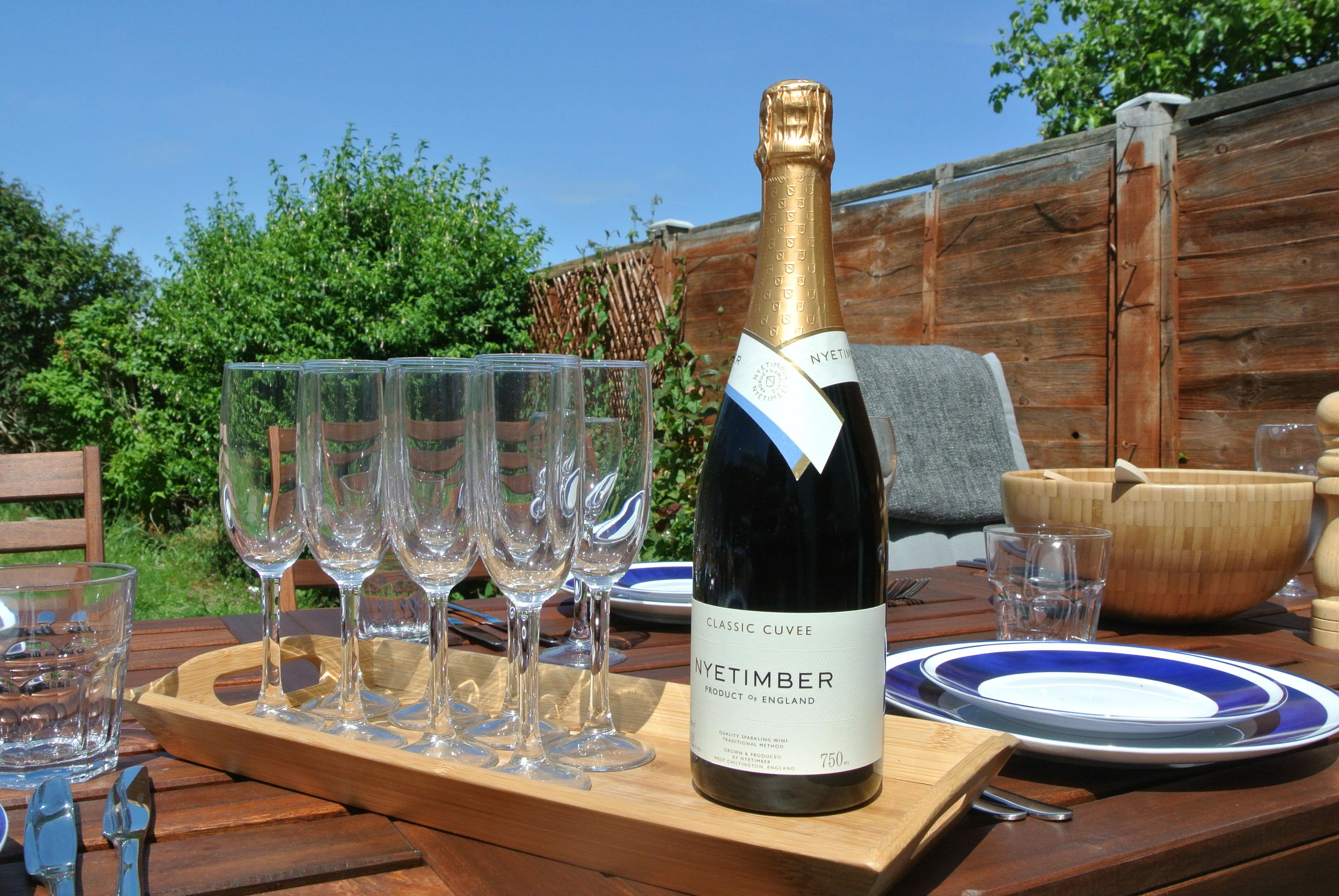 Champagne outside