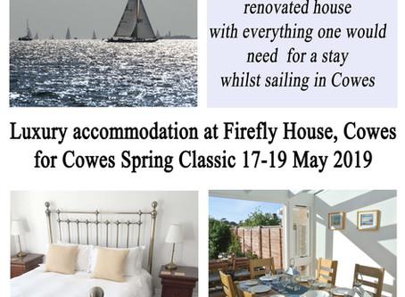 Cowes Spring Classics regatta - accommodation near Shepards Marina