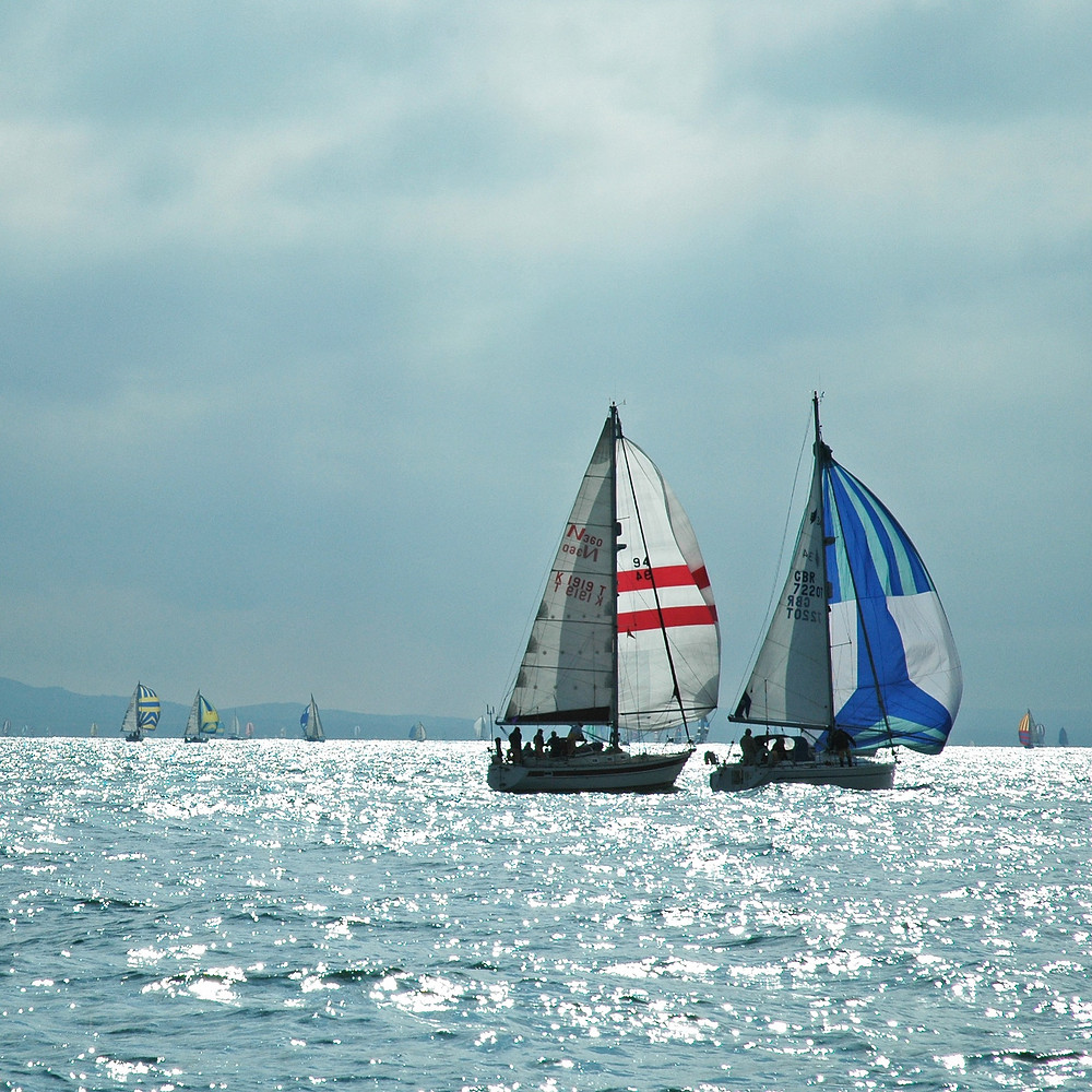 Sailing boats in Solent