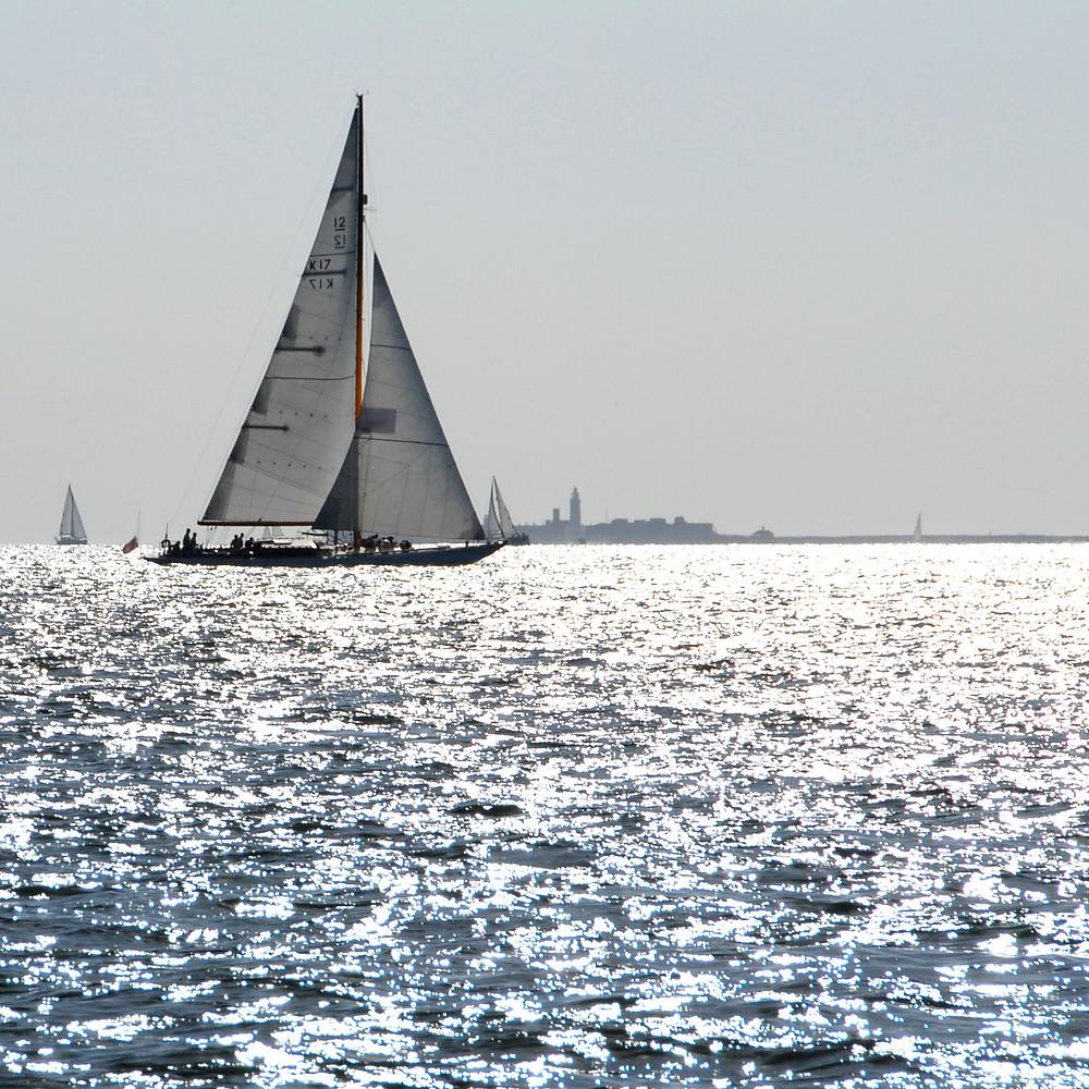 Classic sailing boat in Solent