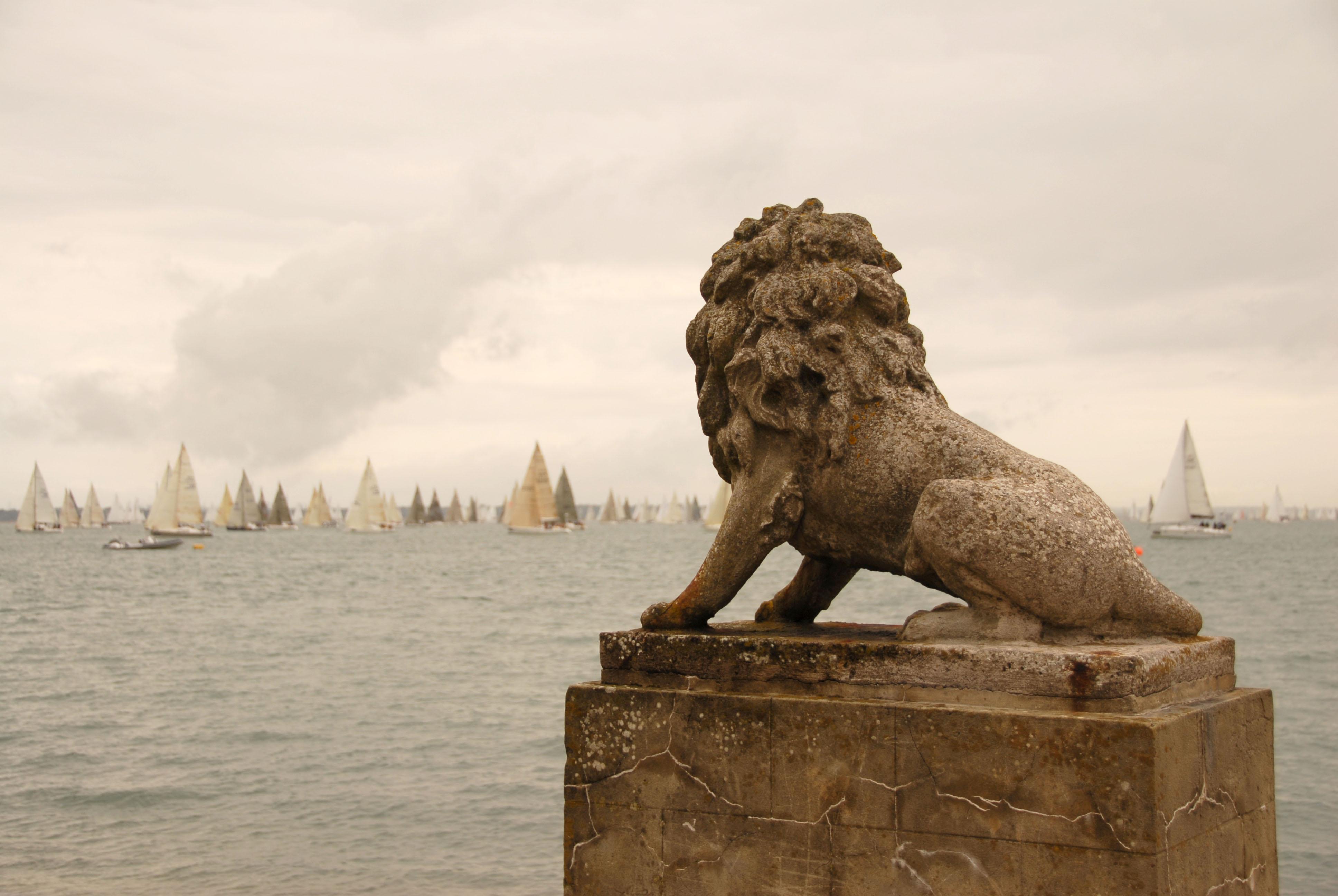 Lions on Cowes Esplanade
