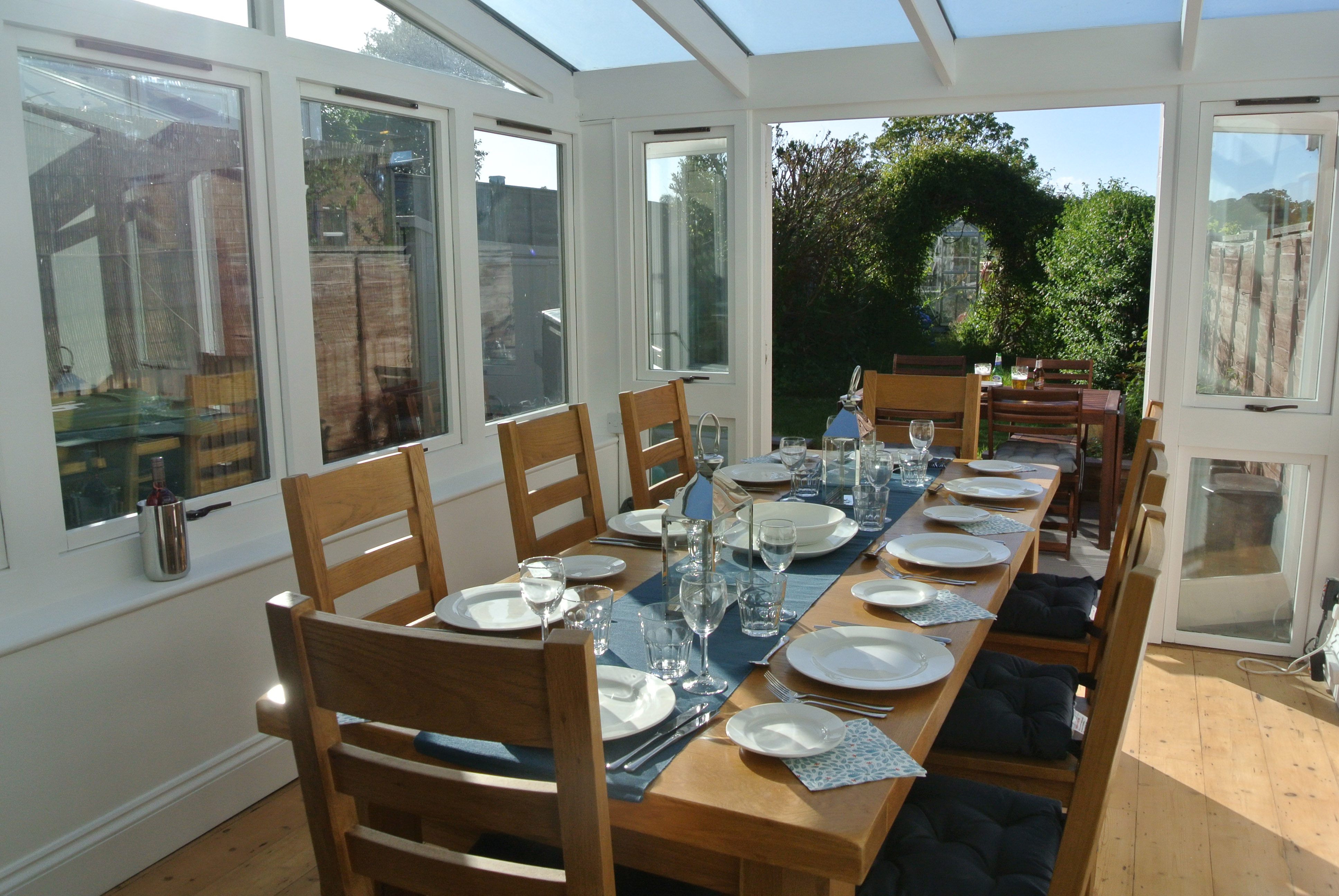 Dining area to outside
