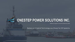 Battery and Hybrid Technology as a Power for DP Systems.