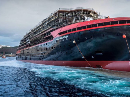 Hurtigruten's New Hybrid-Powered Cruise Ship Launched